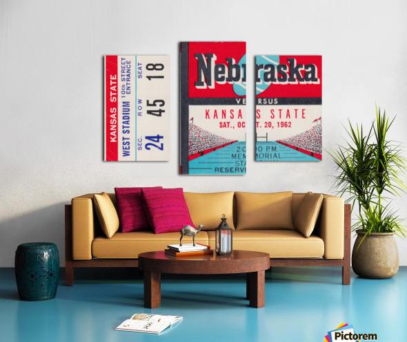 1962 Kansas State vs. Nebraska Cornhuskers Ticket Stub Canvas print
