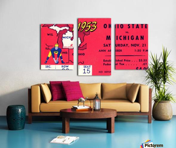 1953_College_Football_Ohio State vs. Michigan_Michigan Stadium_Ann Arbor_Row One Canvas print
