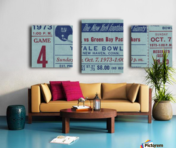 1973_National Football League_New York Giants vs. Green Bay Packers_Yale Bowl_Row One Canvas print