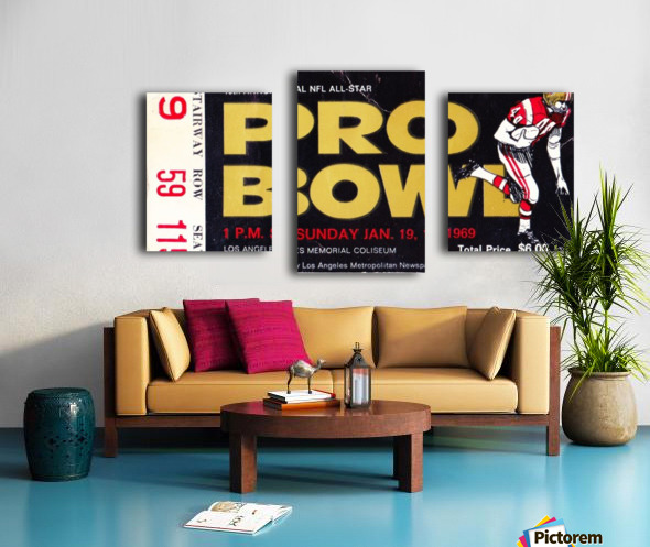 1969_National Football League_Pro Bowl_Los Angeles Coliseum_Row One Canvas print