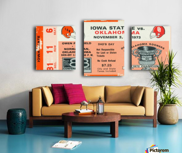 1973_College_Football_Oklahoma vs. Iowa State_Owen Field_Norman_Row One Canvas print