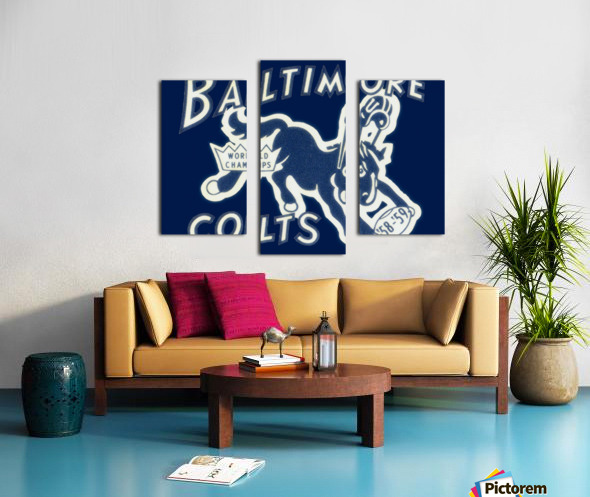 1959_National Football League_Baltimore Colts_World Champions_Row One Canvas print