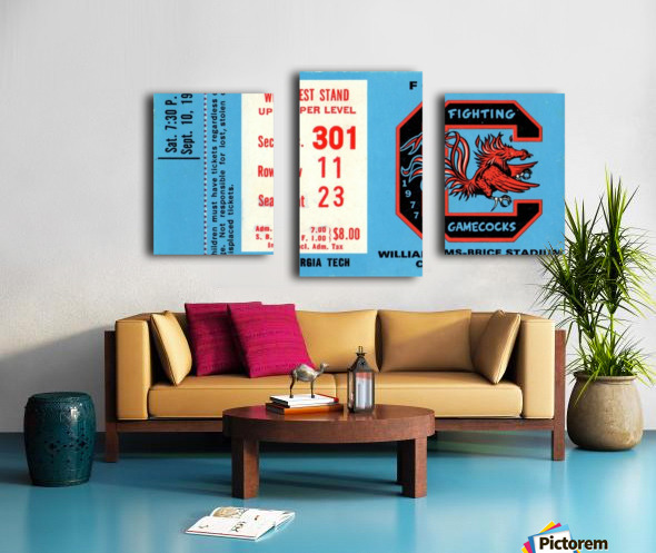 1977_College_Football_Georgia Tech vs. South Carolina_Williams Brice Stadium_Row One Brand Canvas print