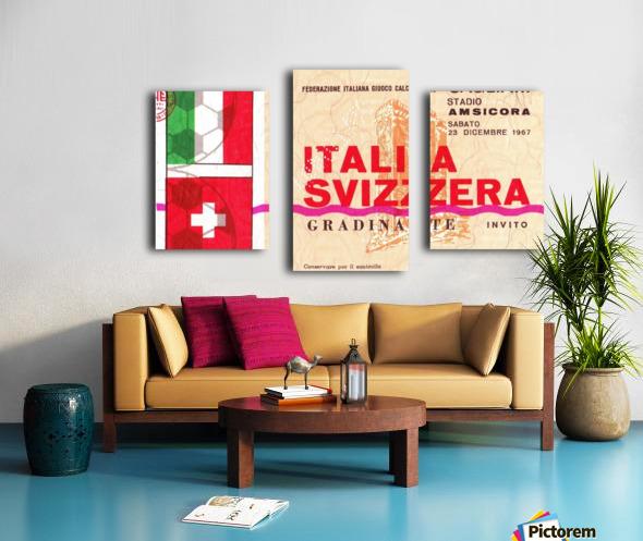 1967_Soccer_Italy vs. Switzerland_Cagliari Stadium_Row One Canvas print