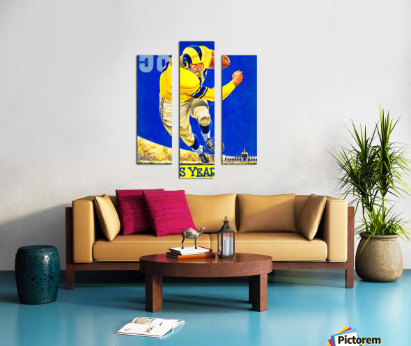 1958 LA Rams Football Yearbook Cover Art Canvas print