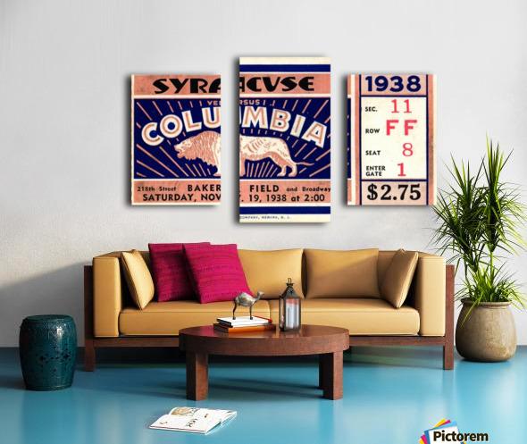 1938_College_Football_Syracuse vs. Columbia_Baker Field_New York City_Row One Brand Canvas print