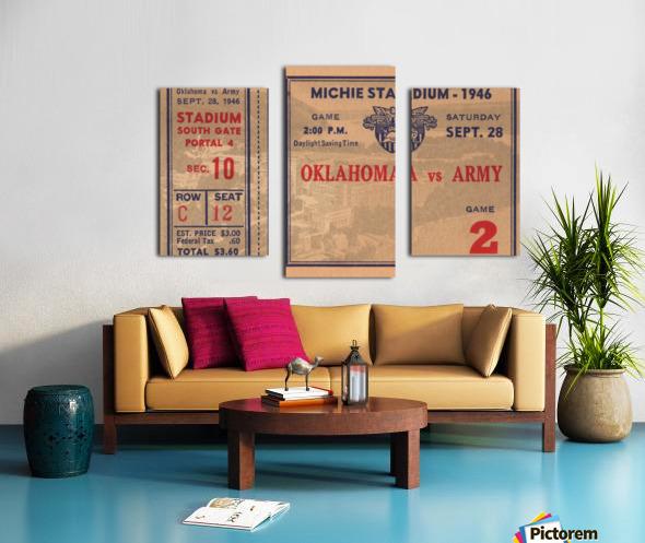 1946_College_Football_Oklahoma vs. Army_Michie Stadium_West Point_New York_Row One Brand Canvas print