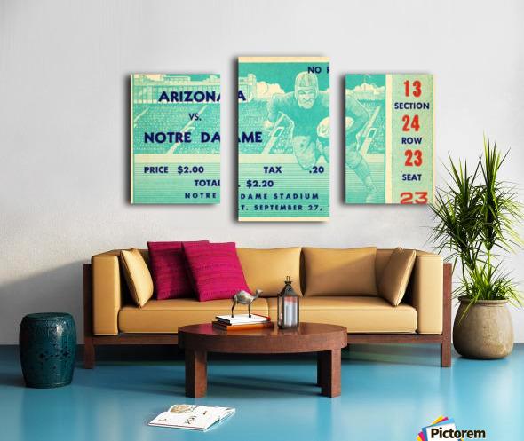 1941_College_Football_Arizona vs. Notre Dame_Notre Dame Stadium_South Bend_Row One Brand Canvas print