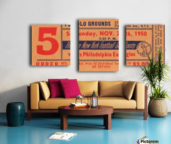 1950_National Football League_Philadelphia Eagles vs. New York Giants_Polo Grounds_NYC_Row One Brand Canvas print