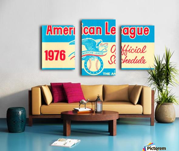 1976_Major League Baseball_American League Schedule_Row One Brand Canvas print
