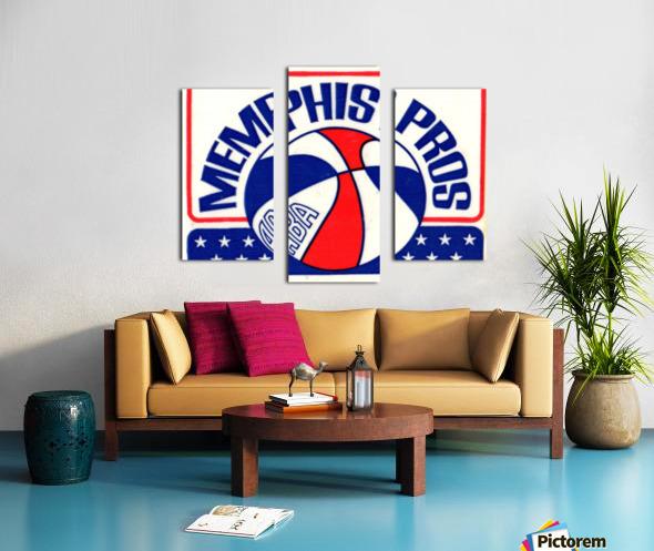 1971_American Basketball Association_Memphis Pros_Row One Brand Canvas print