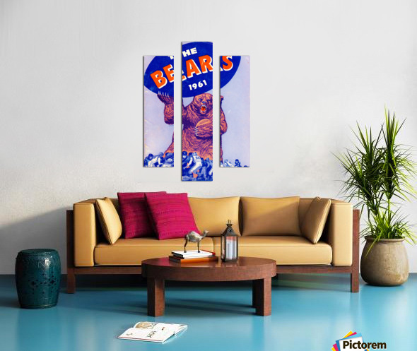 1961_National Football League_Chicago Bears_Row One Brand Canvas print