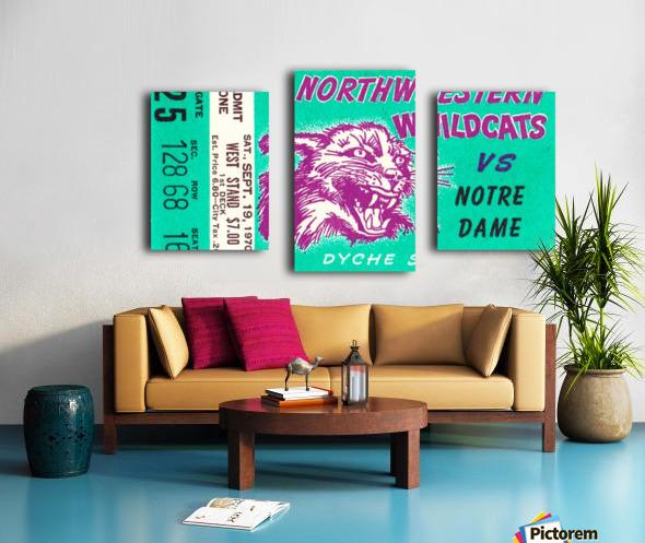 1970_College_Football_Notre Dame vs. Northwestern_Dyche Stadium_Evanston_Row One Brand Canvas print