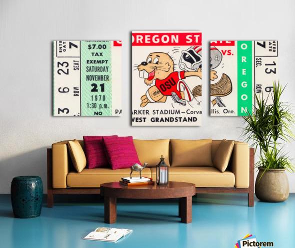 1970_College_Football_Oregon vs. Oregon State_Parker Stadium_Corvallis_Row One Brand Canvas print