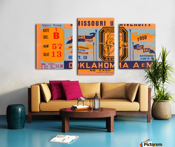 1950_College_Oklahoma vs. Oklahoma State_Lewis Field_Stillwater_Row One Brand Canvas print