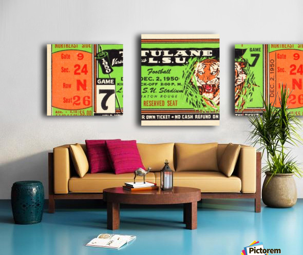 1950_College_Football_Tulane vs. LSU_Tiger Stadium_Baton Rouge_Row One Brand Canvas print