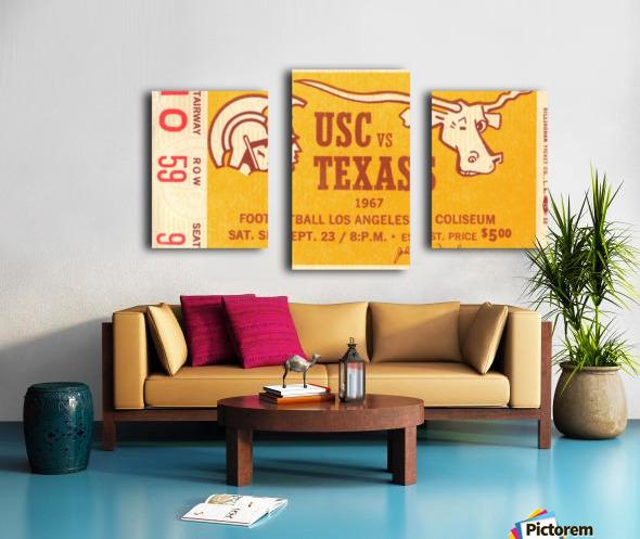 1967 USC vs. Texas  Canvas print