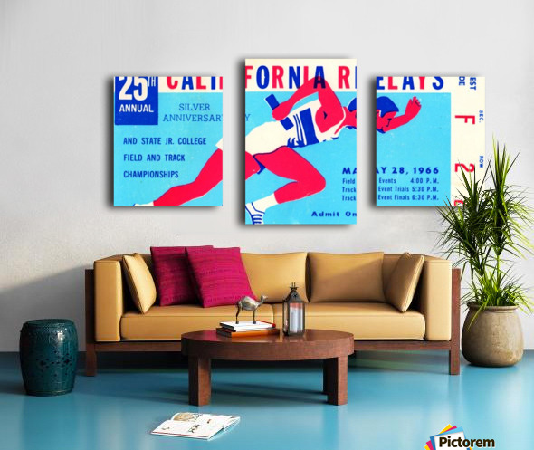 1966_Track and Field_California Relays_Row One Brand Canvas print