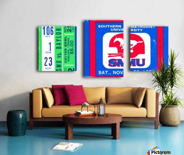 1972_College_Football_Baylor vs. SMU_Cotton Bowl Stadium_Dallas_Row One Brand Canvas print