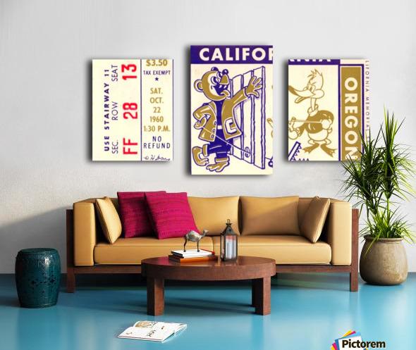 1960_College_Football_California vs. Oregon_Memorial Stadium_Row One Brand Canvas print