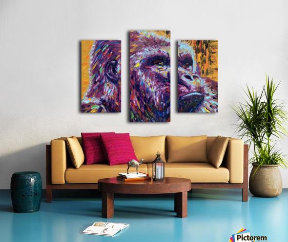 Gorilla Closeup Canvas print