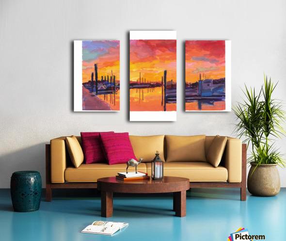 Bodega Bay Sunset Canvas print