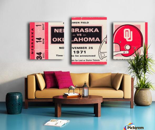 1971 Game of the Century Nebraska vs. Oklahoma Canvas print