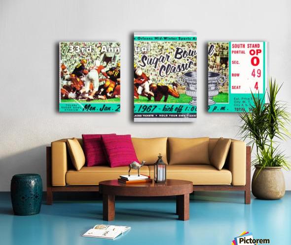 1967_College_Football_Sugar Bowl_Nebraska vs. Alabama_Tulane Stadium_Row One Brand Ticket Stub Art Canvas print