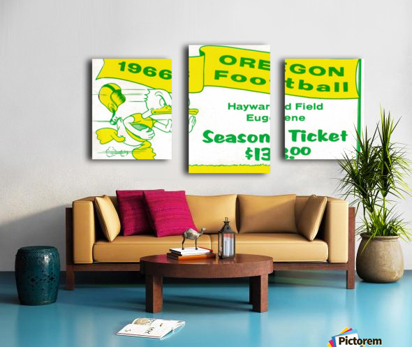 1966 Oregon Duck Season Ticket Canvas print