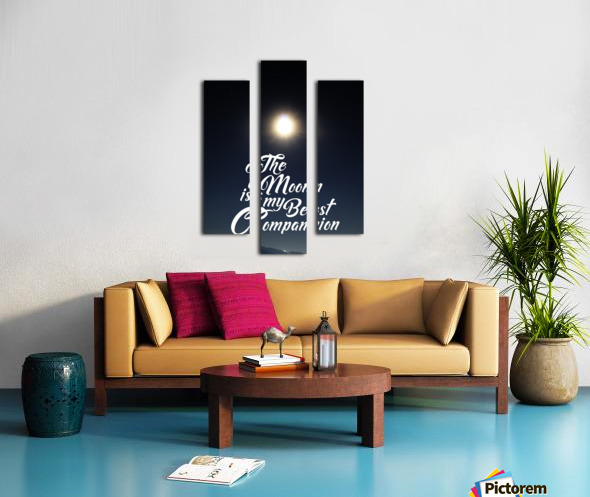 The Moon is Best Companion Canvas print