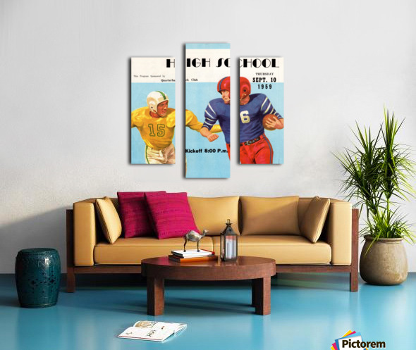 1959 High School Football Canvas print