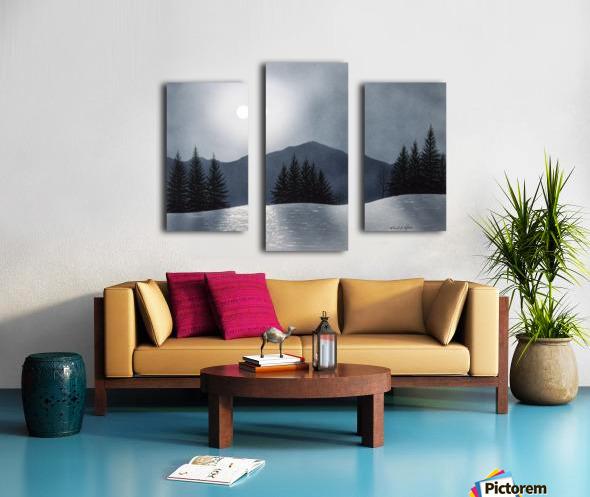 Mountain Moon Canvas print
