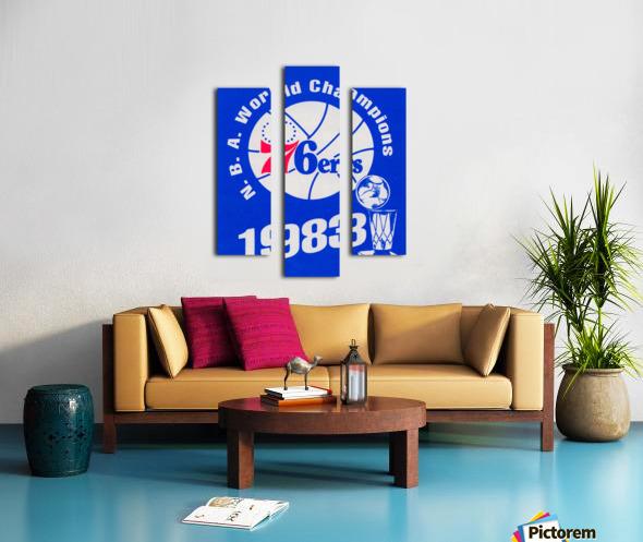 1983 NBA World Champions Philadelphia 76ers Art Reproduction 1 Canvas print