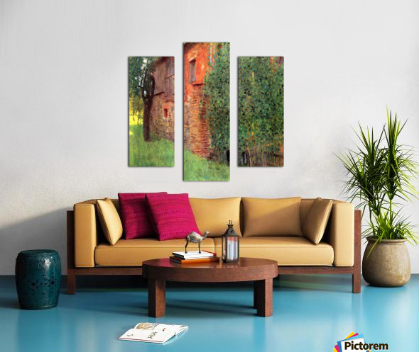 Farmhouse in Chamber in Attersee by Klimt Canvas print