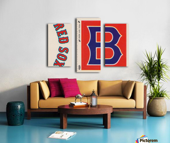 1978 Boston Red Sox Fleer Decal Reproduction 1200 DPI Scan Art by Row One™ Canvas print