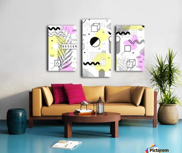 graphic design geometric background Canvas print