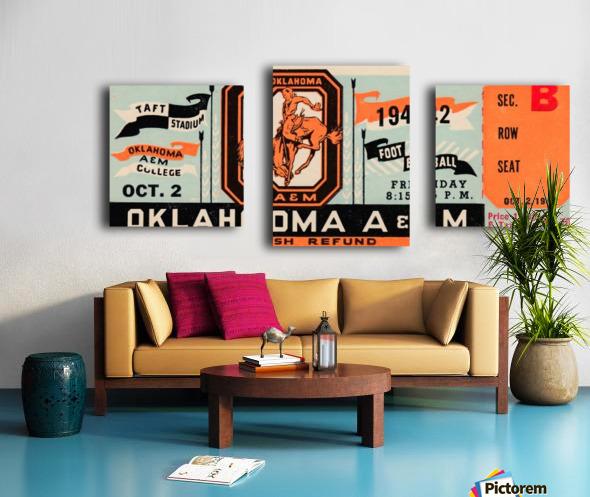 Oklahoma A&M Aggies Football Ticket Stub Art OSU Cowboys Ok State College Football Art Canvas print