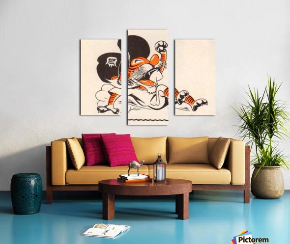 1971_Major League Baseball_Detroit Tigers_Best Sports Cartoons Canvas print