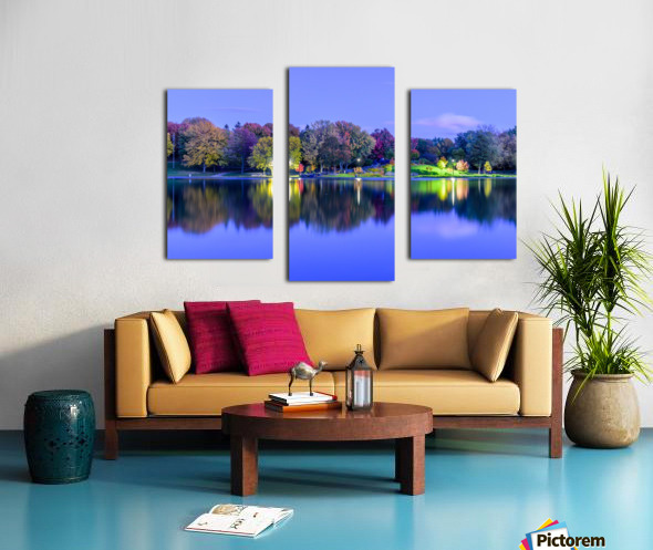 Beaver lake reflection Canvas print