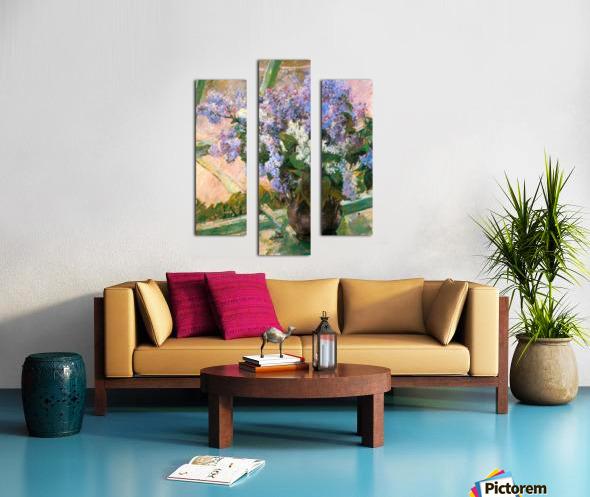 Flowers in the window by Cassatt Canvas print