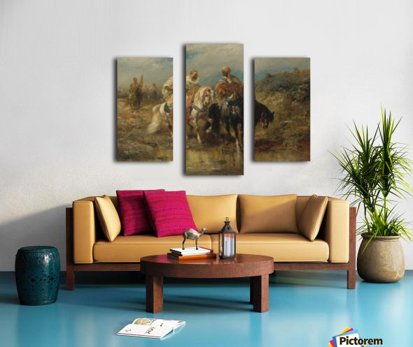 Arab horsemen raiding Canvas print