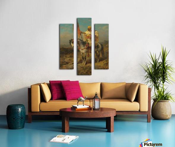Arab rider Canvas print