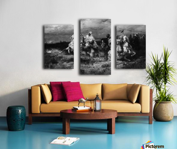Arab riders Canvas print