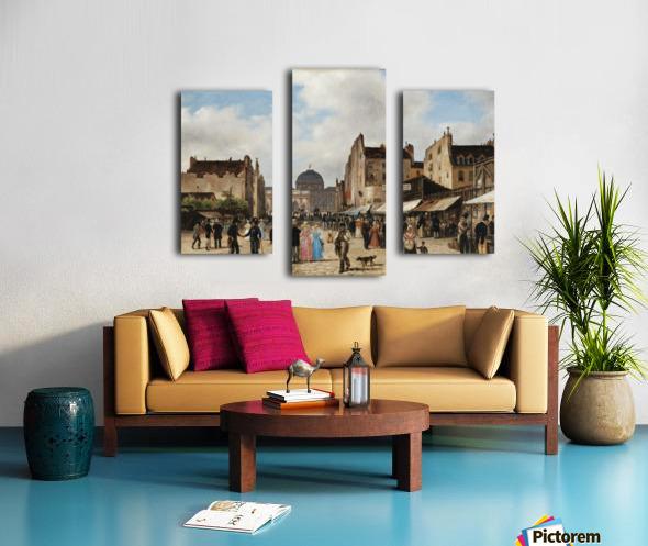 Market view Canvas print