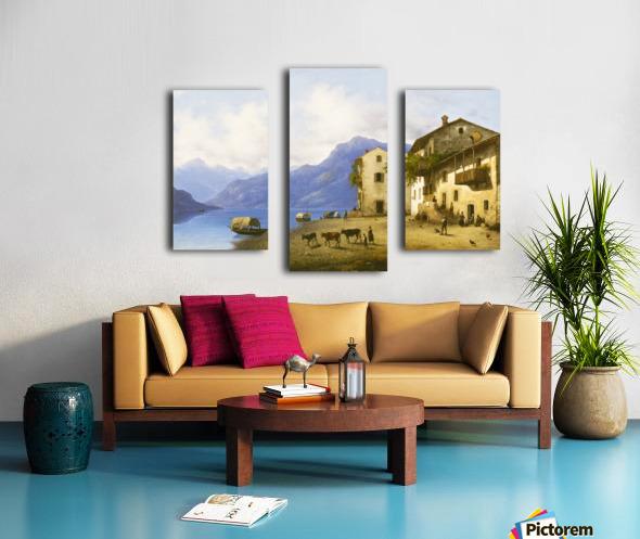 Landscape near Lake Como Canvas print