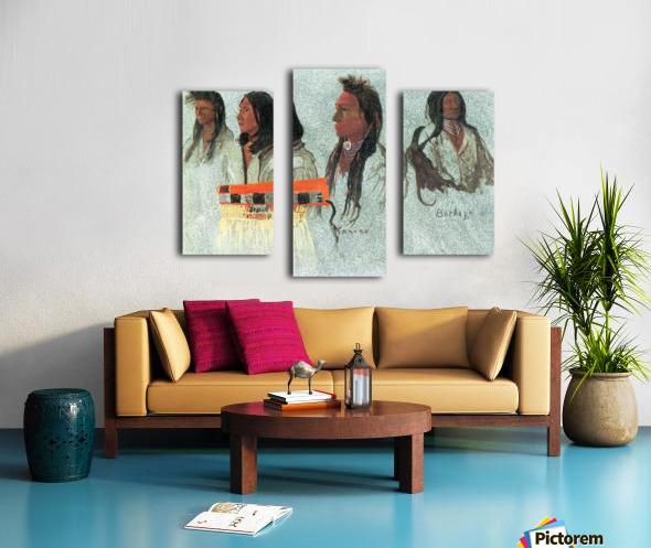 Four Indians by Bierstadt Canvas print