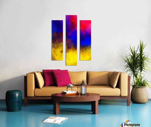 Primary Red Yellow Blue Impression sur toile