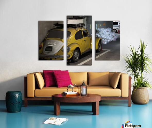 Punch Buggy Yellow No Punchbacks Canvas print