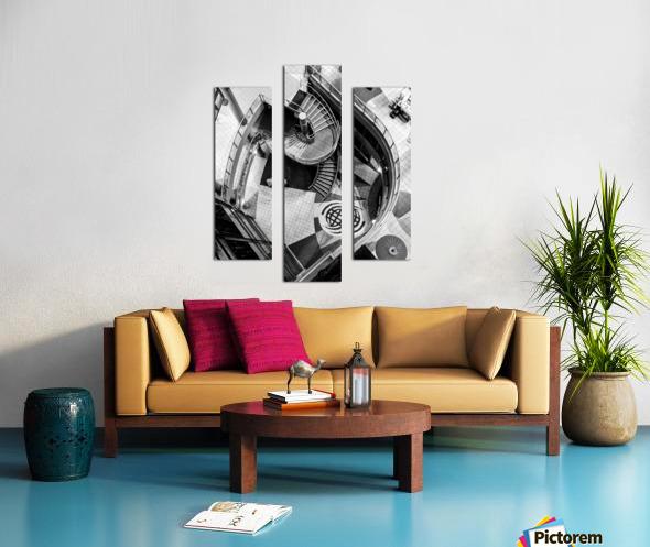 Fibonacci stairs Canvas print