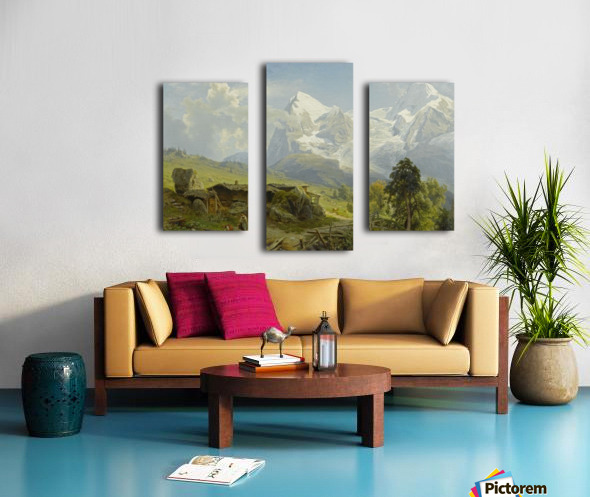 Blick von der Wengerenalp auf Eiger und Monch Canvas print